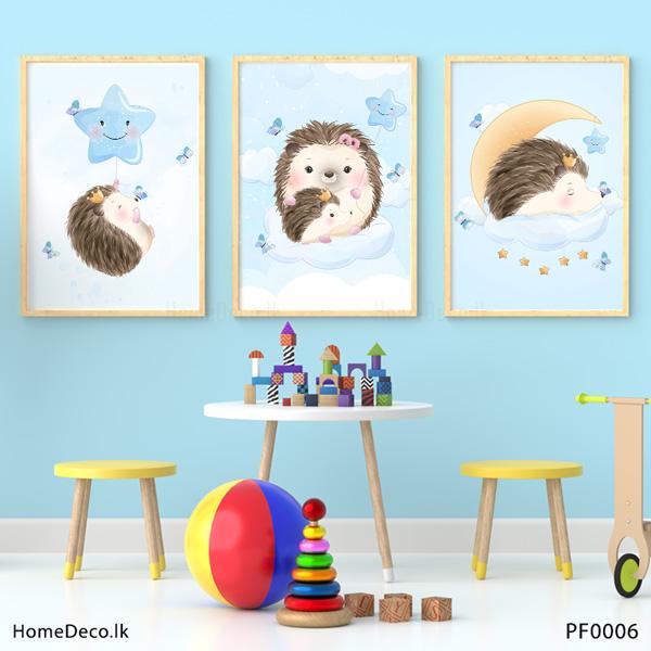 Baby Hedgehog Wall Art Sticker - PF0006