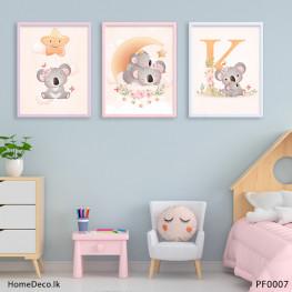 Koala Bear Baby Wall Art Sticker - PF0007