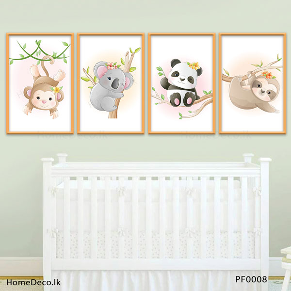 Cute Baby Animal Wall Art Sticker - PF0008