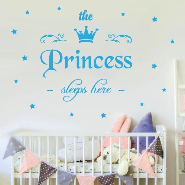 Princess Sleeps Here Wall Sticker - C1001