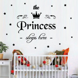 Princess Sleeps Here Wall Sticker - C1001